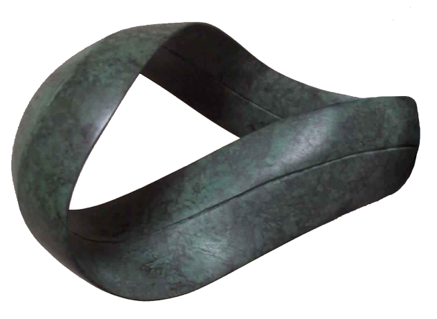 Bronze Mobius Form, by Gordon Aitcheson